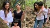 Shweta Tiwari goes hiking in Mahabaleshwar with daughter Palak and son Reyansh