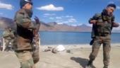 Indian Army jawans dance at the Pangong Tso lake in viral video. Twitter loves it
