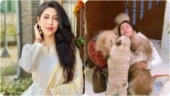 Sonarika Bhadoria gets smothered by her dogs after she returns home. Shares cute video