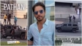 Shah Rukh Khan performs stunts on moving car in leaked Pathan shoot videos. Trending