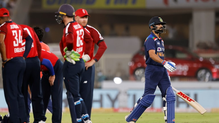 Virat Kohli was out for 0 as India managed just 124 runs in 20 overs in the 1st T20I (Reuters Photo)