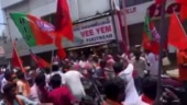 Unrest at Yogi's Coimbatore rally as BJP cadres pelt stones at shops, chant communal slogans