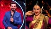 Jay Bhanushali gives sashtang dandavat to Rekha on Indian Idol 12