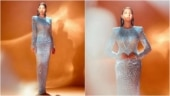 Nora Fatehi is a breathtaking beauty in silver shimmer gown. See pics