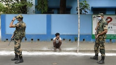 Security personnel conduct patrolling in Bidhannagar in Kolkata on Friday ahead of the fifth phase of polling