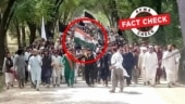 Fact Check: Morphed image shared as protesters in Pakistan waving Indian flag