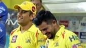 IPL 2021: 'Chinna Thala' Suresh Raina watches on as Chennai Super Kings skipper MS Dhoni bats in the nets