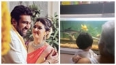 Meghana Raj's son's favourite pastime with grandfather Sundar is relaxing. Watch