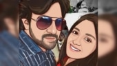 Meghana Raj and Chiranjeevi Sarja are all smiles in fan art featuring them
