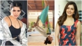 Samantha aces the upside-down aerial yoga pose. Hotness, says Raashi Khanna