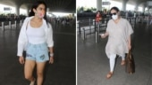 Sara Ali Khan spotted at the airport with mum Amrita Singh amid janta curfew in Mumbai