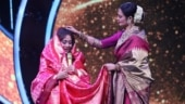 Rekha gifts Kanjivaram saree to newlywed Neha Kakkar on Indian Idol 12
