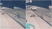 Watch: Mumbai railway officialsaves child from getting run over in nick of time