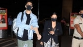 Gauri Khan and son Aryan spotted at the airport leaving for New York. See pics