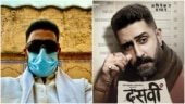 Abhishek Bachchan shares new selfie with mask on from Lucknow, urges fans to do the same