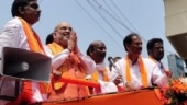 Amit Shah leads roadshow in Puducherry as BJP enters its political waters