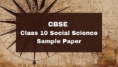 CBSE 10th Social Science Sample Paper 2021: Solve this CBSE sample paper to get full marks
