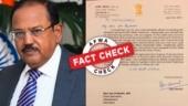 Fact Check: This letter from Doval praising Uttarakhand govt for Kumbh arrangements is fake