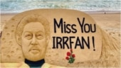 Sudarsan Pattnaik pays sand art tribute to Irrfan on 1st death anniversary. Viral post