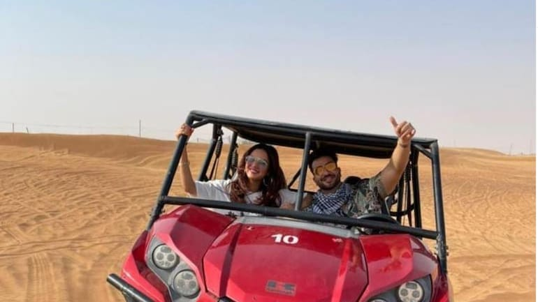 Jasmin Bhasin and Aly Goni are vacationing in Dubai.