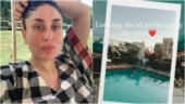 Kareena Kapoor shares glimpse of Saif Ali Khan relaxing by rooftop pool. See pic