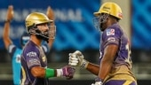 IPL 2021: Watch- Dinesh Karthik saves himself from a powerful Andre Russell shot in KKR's intra-squad match