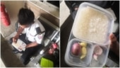 Malaysia security guard eats rice with just onions and garlic for lunch. Heartbreaking viral pic