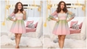 Neha Kakkar in Rs 4k organza corset dress is cute and chic for photoshoot. See pics