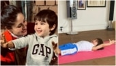 Taimur Ali Khan is stretching after yoga or a nap? You'll never know, says Kareena