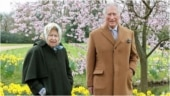 Queen and Prince Charles enjoy walk in the grounds of Frogmore House ahead of Easter. See pics