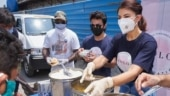 Jacqueline Fernandez helps prepare and distribute meals in Mumbai during Covid crisis