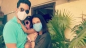 Neha Dhupia caught hubby Angad Bedi and daughter Mehr napping with sunglasses on
