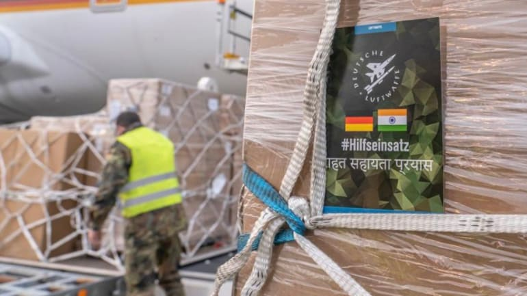 A German Air Force Airbus is due to land in India on Saturday woth 120 oxygen respirators