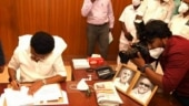 Next to DMK founder Annadurai's picture, Tamil Nadu CM Stalin uses Karunanidhi's pen to sign orders