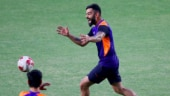Virat Kohli gives hilarious reaction after his 'accidental crossbar challenge'. Watch video