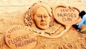 Sudarsan Pattnaik pays tribute to Florence Nightingale with sand art on International Nurses Day. See pic