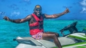 Chris Gayle's Maldives holiday diaries: Universe Boss rides jet ski, works out underwater