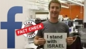 Fact Check: Picture of Mark Zuckerberg holding placard in support of Israel is doctored