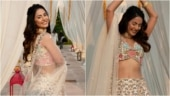 Hina Khan in Rs 62k embroidered lehenga has the perfect bridesmaid look decoded. All pics