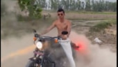 Watch: India pacer Navdeep Saini flaunts his new Harley Davidson, leaves fans in awe