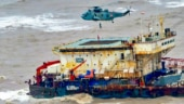 Navy teams from INS Makar, INS Tarasa carry out underwater search for bodies