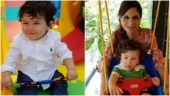 Taimur Ali Khan looks adorable in pics from his 1st birthday. Courtesy, Saba