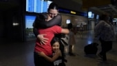Tearful reunion after mom saw photo of daughter at US-Mexico border