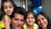 Karanvir Bohra shares cute video of daughter asking him to say sorry for licking spoon