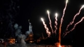 New York celebrates lifting of remaining Covid restrictions with fireworks. Pics and video