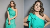 Hina Khan is a beauty in Rs 4k ruffle one-shoulder dress. See pics