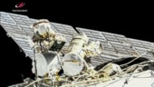 Two cosmonauts conduct spacewalk at International Space Station, prep for arrival of Russian module