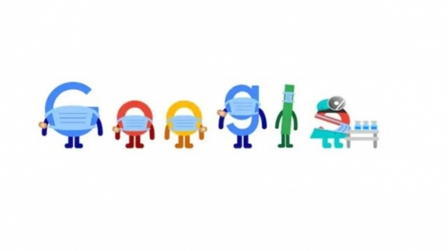 Google Doodle gives a reminder to get vaccinated and wear a mask