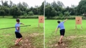 Mark Zuckerberg is practising throwing spears and his video is now viral
