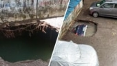 Viral video shows sinkhole swallowing parked car at housing society in Mumbai | WATCH